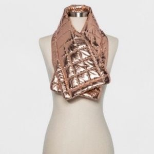 Wild Fable Rose Gold Puffer Wrap Scarf